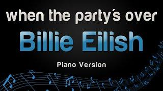 Billie Eilish - when the party's over (Piano Version)