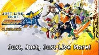 Kamen Rider GAIM - Just Live More (Video KARAOKE) HD